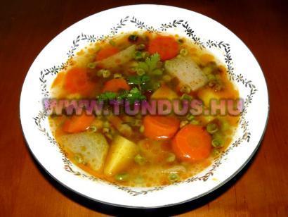 Borsó leves recept fényképe, fotója