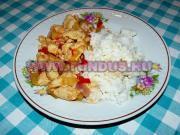 Édes savanyú csirkemell rizzsel