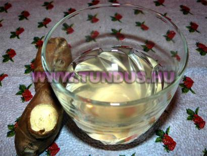 Házi gyömbér tea megfázásra recept fényképe, fotója
